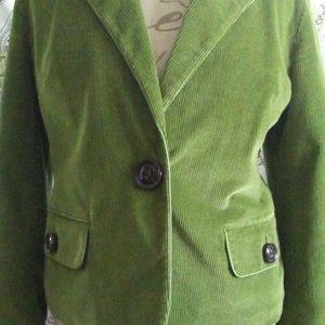 Talbots, Leaf Green Corduroy, Line Jacket